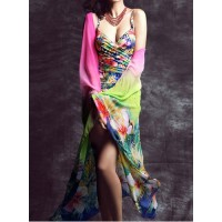 Cute Women's Floral Print Sarong