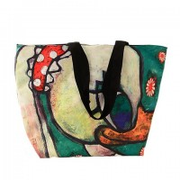 Cute Women's Shoulder Bag With Canvas and Color Matching Design