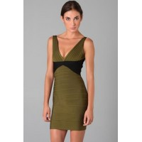 Sexy Oliva Green Bandage Dress