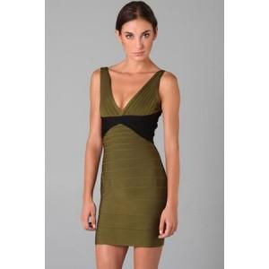 Sexy Oliva Green Bandage Dress