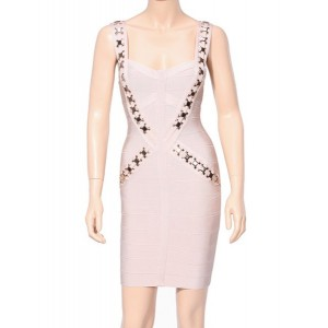 Sexy Women's Sweetheart Neckline Backless Bandage Dress