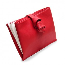 Trendy Women's Clutch With Chain and Red Design