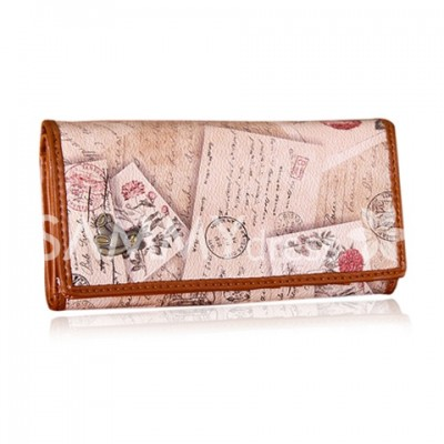 Fashion Women's Clutch Wallet With Bear Cub and Print Design
