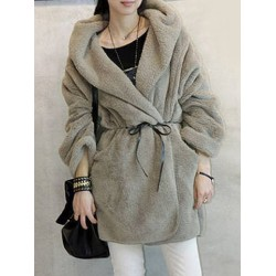 Loose-Fitting Fashionable Hooded Coat For Women