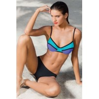 Neon Color Block Two Piece Swimsuit