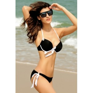Push-up Halter Bikini Black