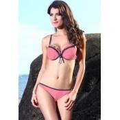 Sexy Lady Pink Bikini Swimsuit