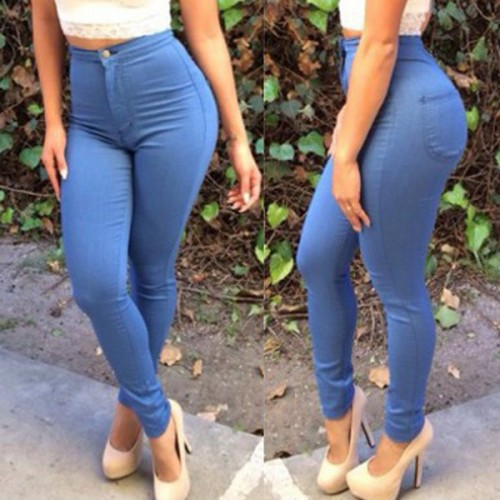Amazing LIGHT BLUE WOMENS JEANS On The Hunt