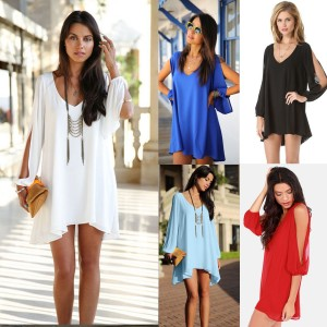 Summer Chiffon Loose Sleeveless Party Evening Cocktail Short Mini Dress