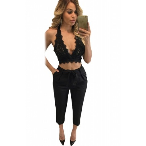 classic styles low priced popular brand Black Lace Bralette Open Back Crop Top white (Black Lace Bralette ...