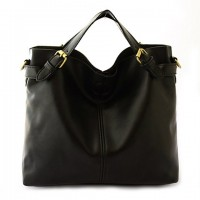 Concise Women's Shoulder Bag With Buckle and Black Design black