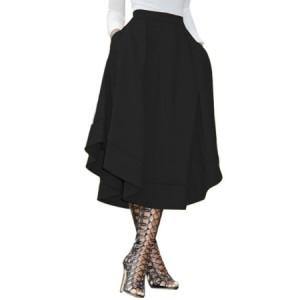 Royal Blue Making Waves High Waist Midi Skirt