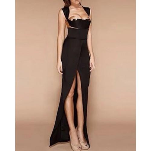 Sexy Women s Low-Cut Backless Black Dress black (Sexy Women s Low ... 15ed15f11