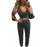 Split Long Sleeve Two Piece Pant Set
