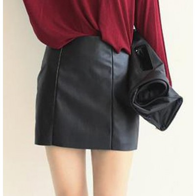 Stylish Women's Black Bodycon Skirt