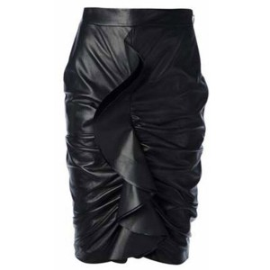 Stylish Women's Ruffled Boydcon Skirt black