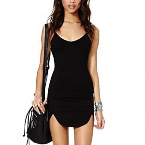 Women's Slim Straps Dress black