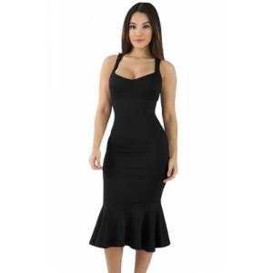 Black Elegant Mermaid Bodycon Dress
