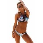 Floral Graphic Strappy Bikini