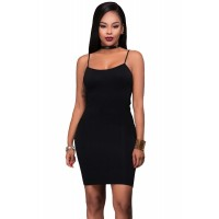 Seamless Bodycon Dress Green Apricot Black