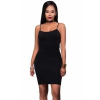 Seamless Bodycon Dress Green Apricot Black
