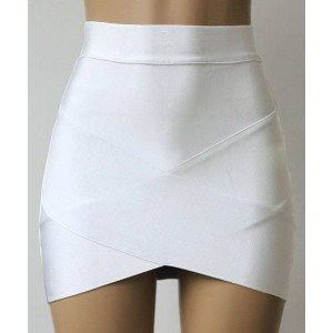 Slim Fit Skinny Trendy Style Bandage Skirt For Women black rose blue white