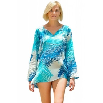 All over Print Long Sleeve Beach Cover up
