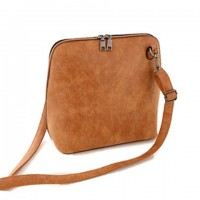 Casual Women's Shoulder Bag With Zip and Suede Design brown purple red