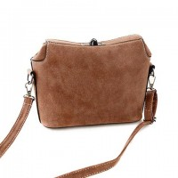 Fashion Women's Shoulder Bag With Hasp and Suede Design khaki plum blue