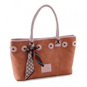 Fashionable Women's Shoulder Bag With PU Leather and Bowknot Design pink brown black
