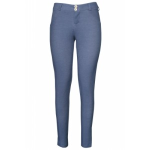 Shaping Effect Skinny Bluish Denim Jersey Pants Grayish