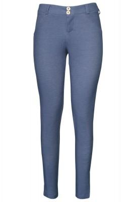 Shaping Effect Skinny Bluish Denim Jersey Pants Grayish