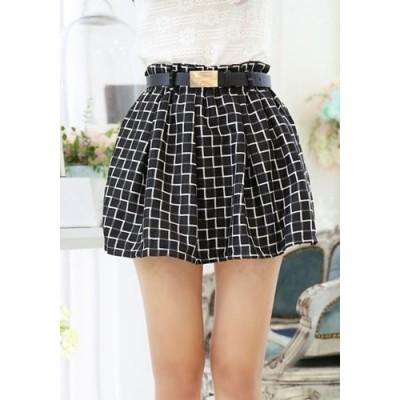 Stylish Women's Plaid A-Line Skirt