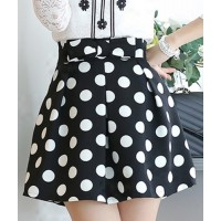 Stylish Women's Polka Dot Bowknot Skirt