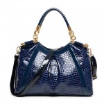 Stylish Women's Shoulder Bag With PU Leather and Crocodile Print Design