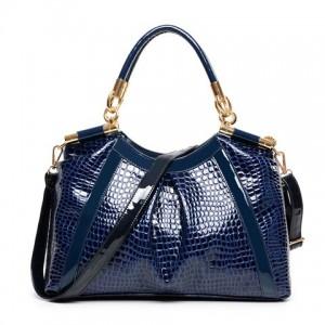 Stylish Women's Shoulder Bag With PU Leather and Crocodile Print Design
