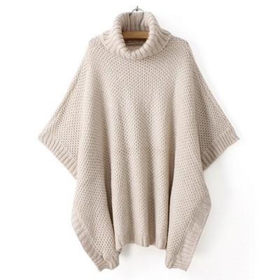 Stylish Women's Turtleneck Dolman Sleeve Sweater white