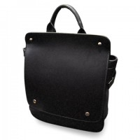 Vintage Women's Satchel With PU Leather and Solid Color Design black