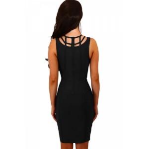 Black Cage Top Bandage Mini Dress