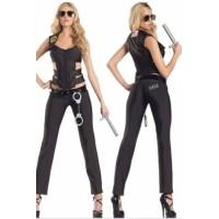 Black SWAT Policewoman Sexy Costume