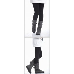 Comfortable Style Laconic and Mix-Matched Thicken Nine-Cent Leggings For Women/Girl black
