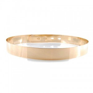 Fashion Solid Color Metal Waist Belt For Women gold silver
