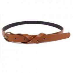 Fashionable Simple Style Digital 8 Shape Belt For Women coffee black