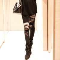 Fashionable Style Solid Color Hipster Slimming Leggings For Women black