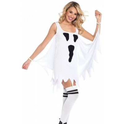 Ghost Print Jersey Dress Adult Costume