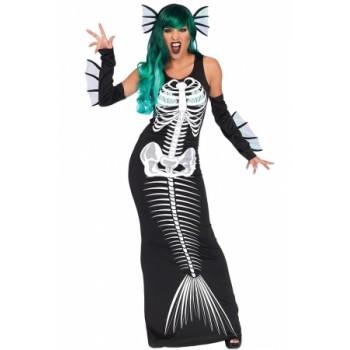 Halloween Cosplay Skeleton Siren Costume
