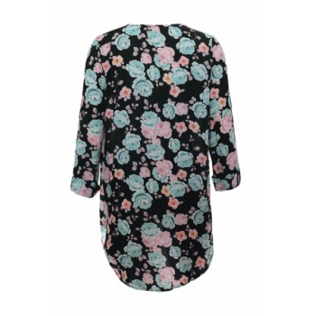 Light Blue Floral Kimono Cardigan Loose Cover up