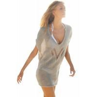 Lovely Casual Knitted Cover up Beachwear