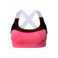 Pink Lovable Cross Back Active Yoga Bra