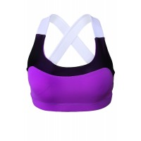 Purple Lovable Cross Back Active Yoga Bra